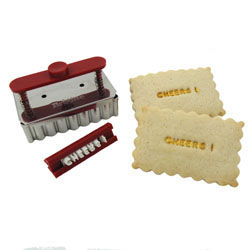 SALE!  Brigitte Message on a Cookie Text Stamp & Cutter Set