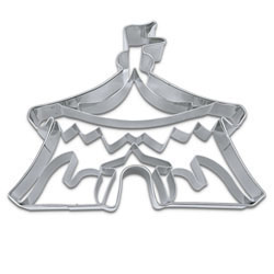 Circus Tent Cookie Cutter, Detailed