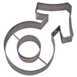 Cookie Cutter Male Symbol Stainless Steel