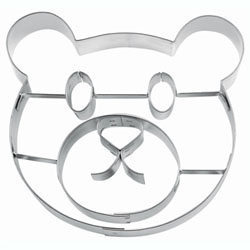 Cookie Cutter Teddy Bear Face Stainless Steel