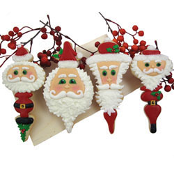 Cookie Cutter Christmas Tree Jewelry - Set of 4 Ornaments