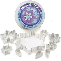 Cookie Cutter Snowflake Set of 9, Tin