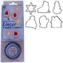 Linzer Winter Fantasy Cookie Cutter Set with 6 Inserts