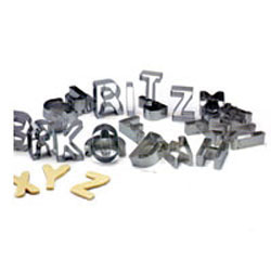 Cookie Cutter Alphabet Large Set of 26, Tin