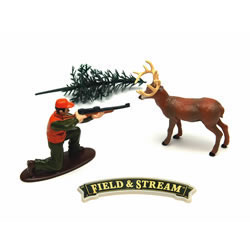 Field & Stream Deer and Hunter Cake Decoration