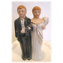Vintage Wedding Cake Topper 173