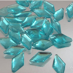 Blue Diamond Shaped Edible Sugar