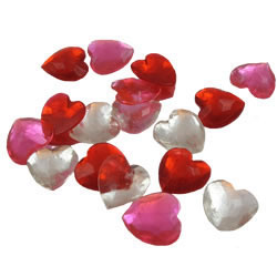 Heart Assortment Edible Sugar Gems