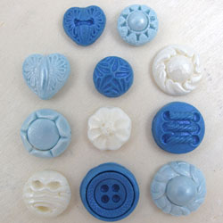 Silicone Small Button Mold Set of 11