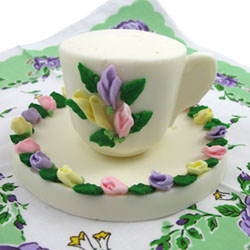 3D Demitasse Cup, and Saucer Chocolate Mold