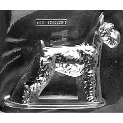 3D Schnauzer Chocolate Mold, 2 Piece LTD QTY