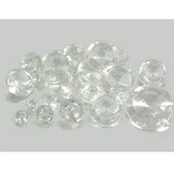 Assorted Sizes White Diamond Edible Sugar Cake Jewels