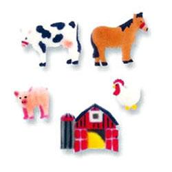 Farm Animals Sugar Decorations
