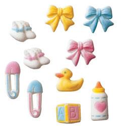 Baby Assortment Sugar Decorations