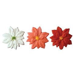 Sugar Poinsettias Multicolor, Set of 9
