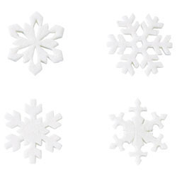 Pastillage Glitter Snowflakes, Set of 8