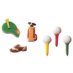 DP!   Golf Assortment Sugar Decorations