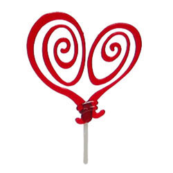 Whimsy Heart Cupcake Picks, Set of 12