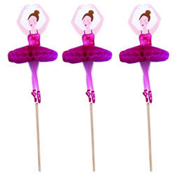 Ballerina with Tutu Cupcake Picks, Set of 12