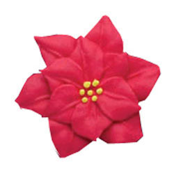 Icing Poinsettia Red, Set of 9