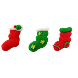 Stockings Small Icing Decorations