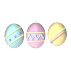 Easter Egg Large Pastel Icing Decorations