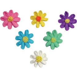 Icing Daisies Royal Mini Assortment, Set of 24