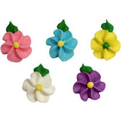 Icing Mini Spring Flowers Set of 15