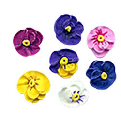 Flower Pansies Minis Icing Decorations