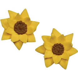 Icing Sunflower Mini Yellow, Set of 10