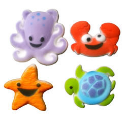 Sea Buddies Sugar Decorations