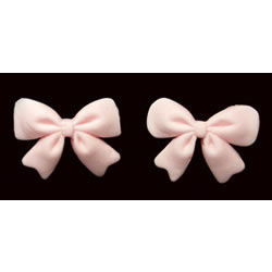 Fondant Bows Pink Set of 18
