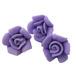 Lavender Tiny Rose Icing Decorations