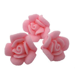 Pink Tiny Rose Icing Decorations
