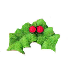 Icing Double Holly with Berry, Set of 32