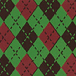 Argyle Red & Green Chocolate Transfer Sheet