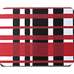 SALE!  Plaid Red & White Chocolate Transfer Sheet