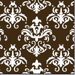 Damask White Chocolate Transfer Sheet