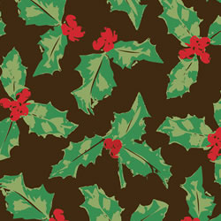 Holly Leaf  Red, Green & Sage Chocolate Transfer Sheet