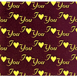 I Love You Gold Chocolate Transfer Sheet