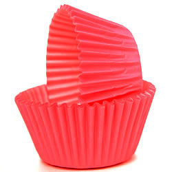 SALE!  Muffin Cup Solid Red