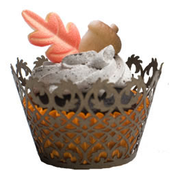Cupcake Wrapper Filigree Brown, Limited Qty