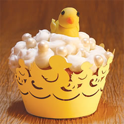 Cupcake Wrapper Yellow Ducky