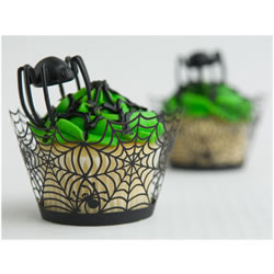 Cupcake Wrapper Halloween Spider Web