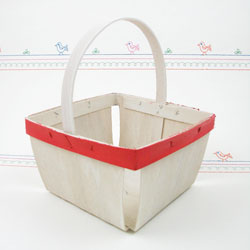 Berry Basket with Handle, 1 Quart