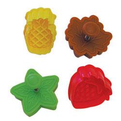 DP!  Cookie Stamp & Cutter Fruit & Leaf, Set of 4