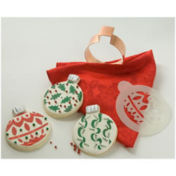 Christmas Ornaments Cookie Stencil, Set of 3