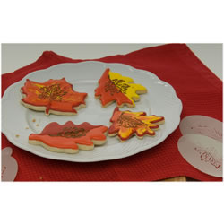 Fall Leaves Cookie or Cupcake Stencil, Set of 4
