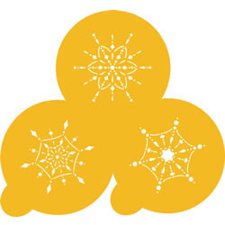 Jewel Snowflake Cookie or Cupcake Stencil, Set of 3