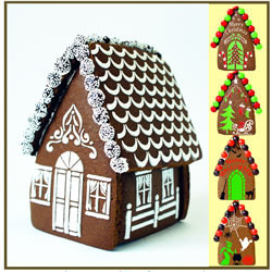 Gingerbread House Stencil , Set of 7 for all Seasons